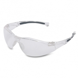 North A800 Series Safety Glasses - Clear Frame - Clear Anti-Fog Lens