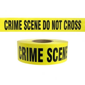 CRIME SCENE DO NOT CROSS - Barricade Tape 1000 ft Roll-2.5 Mil