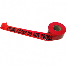 CRIME SCENE DO NOT CROSS - Red Barricade Tape 1000 ft Roll - 3 Mil