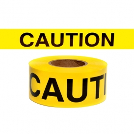 CAUTION- Barricade Tape 1000 ft Roll-3 Mil