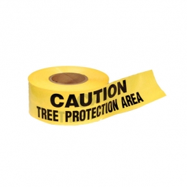 CAUTION TREE PROTECTION AREA - Barricade Tape 1000 ft Roll - 3 Mil
