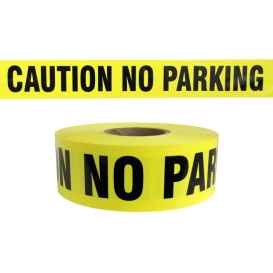 CAUTION NO PARKING - Barricade Tape 1000 ft Roll - 3 Mil