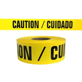 Caution Cuidado Barricade Tape - 1,000 Ft Roll - 4 Mil