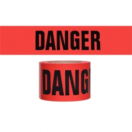 DANGER - Barricade Tape 300 ft Roll-2 Mil