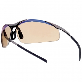Bolle 40051 Contour Metal Safety Glasses - Silver Metal Temples - ESP Anti-fog Lens