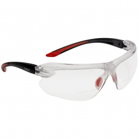 Bolle 4018BI IRI-S Safety Glasses - Red/Black Temples - Clear Anti-Fog Bifocal Lens