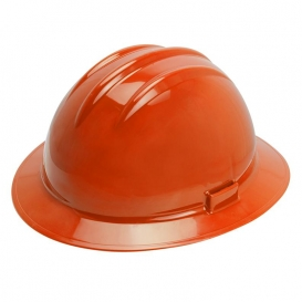Bullard C35HOR Classic Extra-Large Full Brim Hard Hat - Ratchet Suspension - Hi-Viz Orange