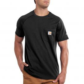 Carhartt 100410 Carhartt Force Cotton Delmont Short Sleeve T-Shirt - Black