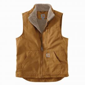Carhartt 104277 Sherpa Lined Mock Neck Vest - Carhartt Brown