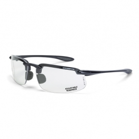 CrossFire ES4 Safety Glasses - Gray Frame - Clear Lens