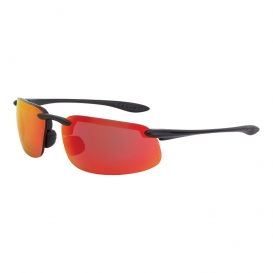CrossFire 2169 ES4 Safety Glasses - Black Frame - Red Mirror Lens