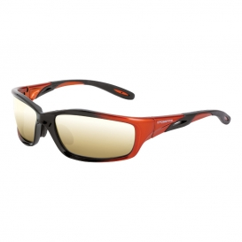 CrossFire 2812 Infinity Safety Glasses - Orange Frame - Gold Mirror Lens