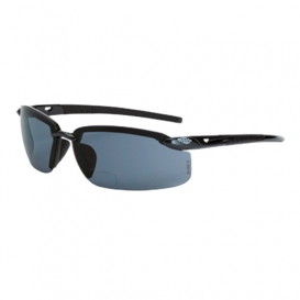 CrossFire 29414R ES5 Safety Glasses - Black Frame - Smoke Polarized Bifocal Lens