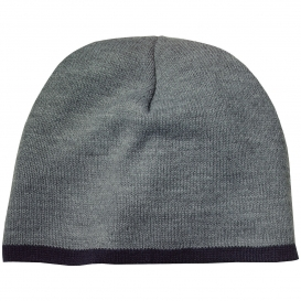 Port & Company CP91 Beanie Cap - Athletic Oxford/Black