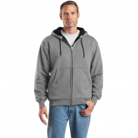 CornerStone CS620 Heavyweight Full-Zip Hooded Sweatshirt with Thermal Lining - Athletic Heather