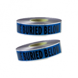 CAUTION BURIED WATERLINE BELOW - Detectable Underground Warning Tape