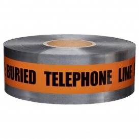 CAUTION BURIED TELEPHONE LINE BELOW - Detectable Underground Warning Tape