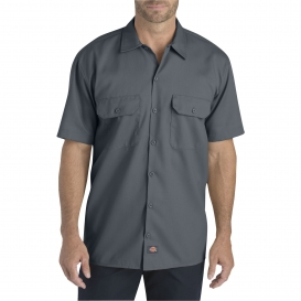 Dickies WS675 Relaxed Fit Short Sleeve Twill Work Shirt - Charcoal
