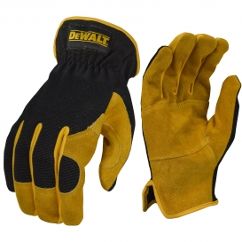 DeWalt DPG216 Split Cowhide Leather Palm Hybrid Gloves