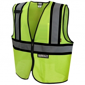 DeWalt DSV221 Type R Class 2 Economy Two-Tone Mesh Safety Vest - Yellow/Lime