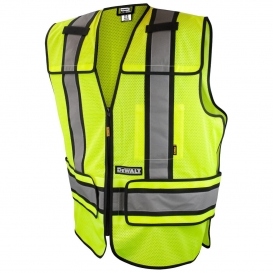 DeWalt DSV421 Type R Class 2 Adjustable Breakaway Mesh Safety Vest - Yellow/Lime