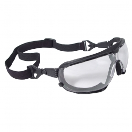 Radians DG1-11 Dagger Safety Glasses/Goggles - Smoke Foam Lined Frame - Clear Anti-Fog Lens