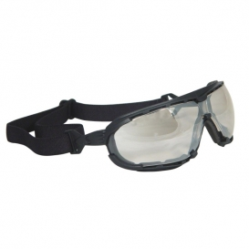 Radians Dagger Safety Glasses/Goggles - Smoke Foam Lined Frame - Indoor/Outdoor Anti-Fog Mirror Lens