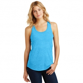 District Made DM138L Ladies Perfect Tri Racerback Tank - Turquoise Frost