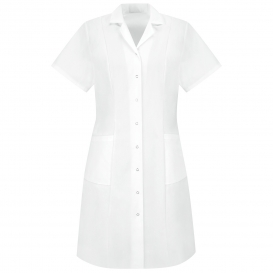 Red Kap DP29WH Women\'s Short Sleeve Snap Front Dress - White