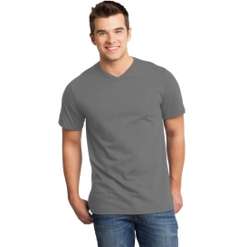District DT6500 Young Mens Very Important Tee V-Neck - Grey