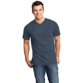 District DT6500 Very Important Tee V-Neck - Heathered Navy