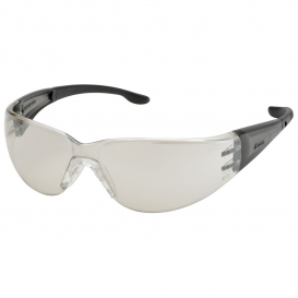 Elvex SG-401-I/O Atom Safety Glasses - Gray Temples - Indoor/Outdoor Mirror Lens