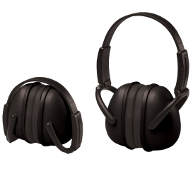 ERB 239 Foldable Ear Muffs - Black