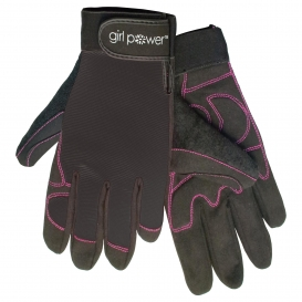 ERB MGP100 Women\'s Mechanics Work Gloves - Black