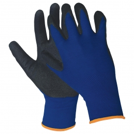 ERB N200 Sandy Finish Nitrile Coated Palm and Finger Gloves - Blue