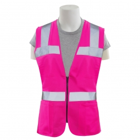 ERB S721 Non-ANSI Women\'s Safety Vest with Zipper - Pink