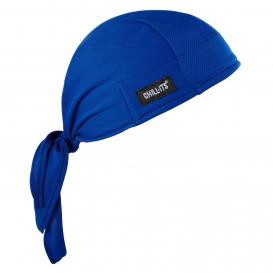 Ergodyne Chill-Its 6615 High-Performance Dew Rag - Blue