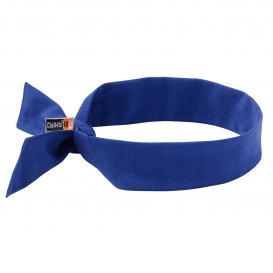 Ergodyne Chill-Its 6700FR Cooling FR Bandana with Polymers & Tie Closure - Blue