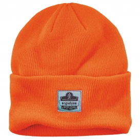 Ergodyne N-Ferno 6806 Cuffed Rib Knit Beanie Hat - Orange