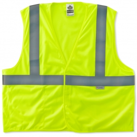 Ergodyne GloWear 8255HL Self Extinguishing Polyester Vest - Velcro Closure - Yellow/Lime