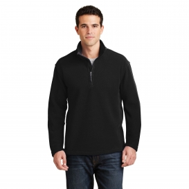 Port Authority F218 Value Fleece 1/4-Zip Pullover - Black