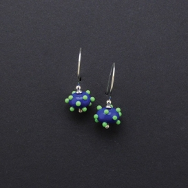 Raised Dot and Wire Earrings