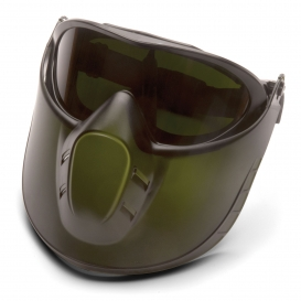 Pyramex GG504TSHIELDIR5 Capstone Shield Goggles - Removable Face Shield - 5.0 IR Filter Anti-Fog Lens