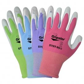 Global Glove 570T Garden Gripster Nitrile Coated Garden Gloves in Four Colors