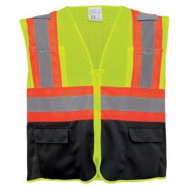 Global Glove GLO-0036 FrogWear Type R Class 2 Two-Tone Black Bottom Surveyor Safety Vest