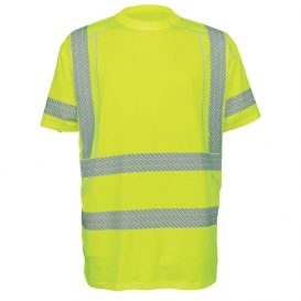 Global Glove GLO-205 FrogWear Type R Class 3 Performance Stretch Safety Shirt - Yellow/Lime