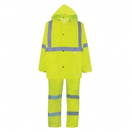 Global Glove GLO-8000 FrogWear Type R Class 3 Three-Piece Rain Suit