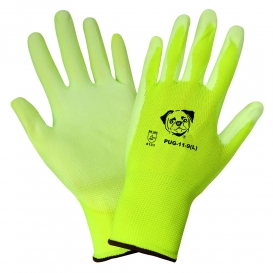 Global Glove PUG11 Seamless Knit Gloves - 13 Gauge Nylon Shell - Polyurethane Coated Palm & Fingers