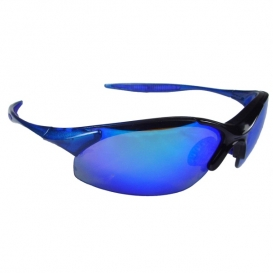 Radians Rad-Infinity Safety Glasses - Blue Frame - Blue Mirror Lens
