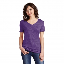 Jerzees 88WV Ladies Snow Heather Jersey V-Neck T-Shirt - Purple